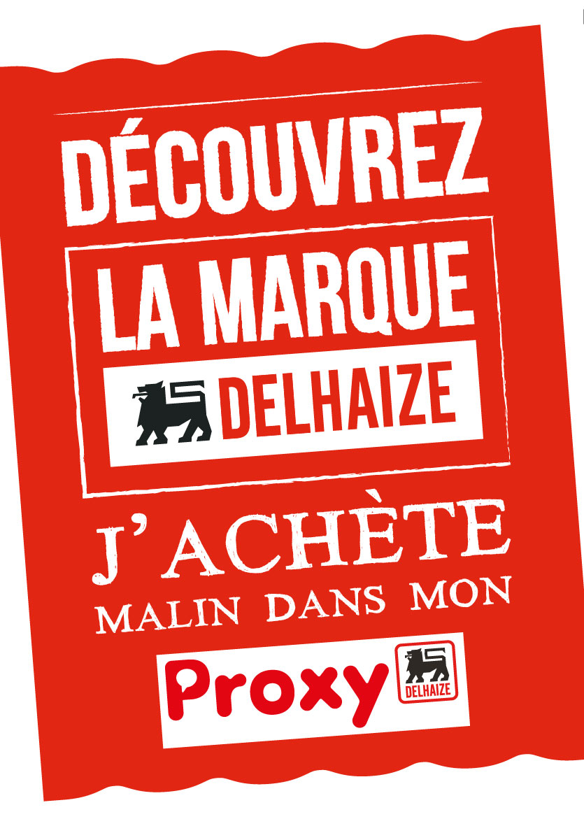 advertentie Proxy Delhaize Sint-Genesius-Rode